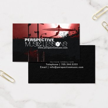 Professional Business Music Shoppe / Drummer Business Cards
