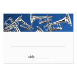 Music Silver Trumpet Bar Mitzvah Seating Card Business Card Templates