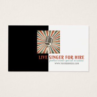 Music Singer Vocalist Hire Microphone Photo Card