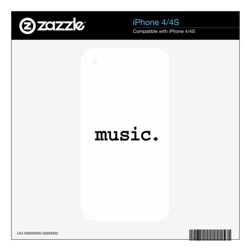 music. skins for the iPhone 4S