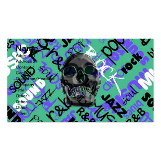 Music Skull Business Card Template