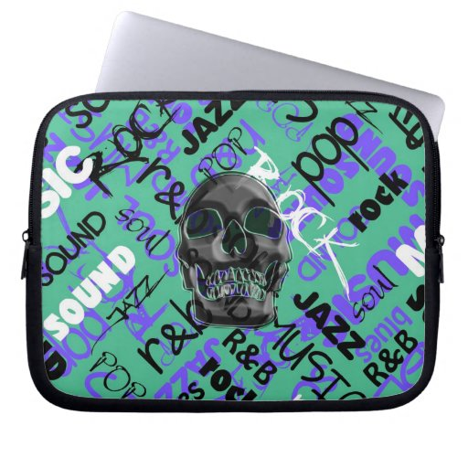 Music Skull Computer Sleeve