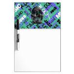 Music Skull Dry Erase Board