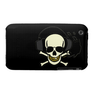Music Skull iPhone 3 Case