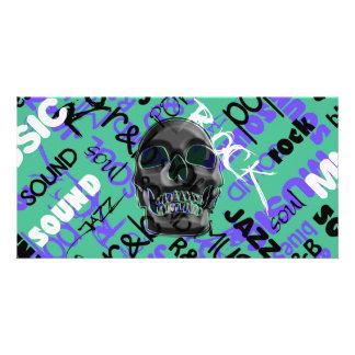Music Skull Photo Greeting Card