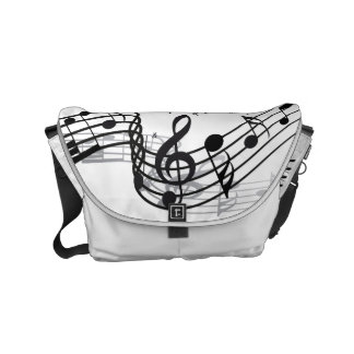 Music Small Messenger Bag