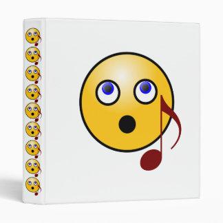 Music Smiley 3 Ring Binder