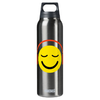 Music smiley face with headphones SIGG thermo 0.5L insulated bottle