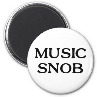 Music Snob 2 Inch Round Magnet