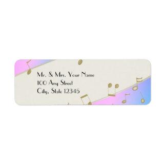 Music Song Notes Custom Return Address Label