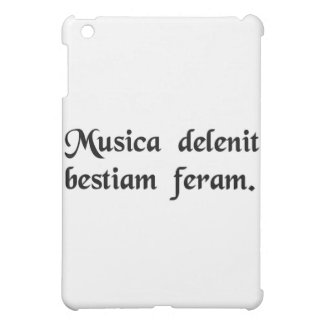Music soothes the savage beast. iPad mini covers