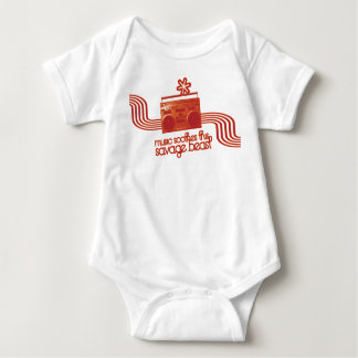 music soothes this savage beast t-... - Customized Baby Bodysuit