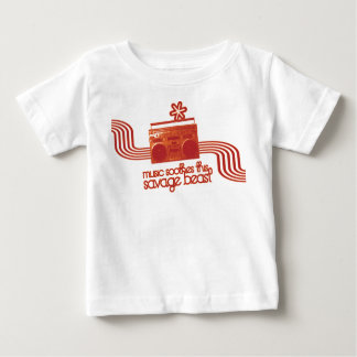 music soothes this savage beast t-shirt