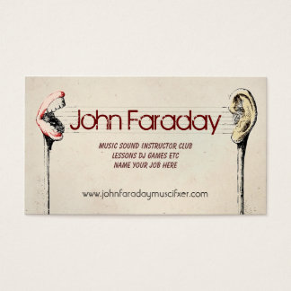 music sound cool business card