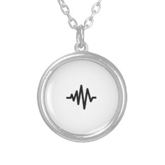 Music Sound Wave Silver Plated Necklace
