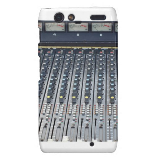 Music soundboard sound board mixer droid RAZR case