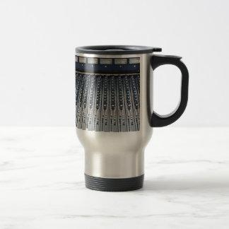 Music soundboard sound board mixer 15 oz stainless steel travel mug