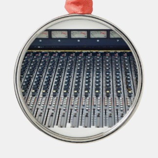 Music soundboard sound board mixer round metal christmas ornament