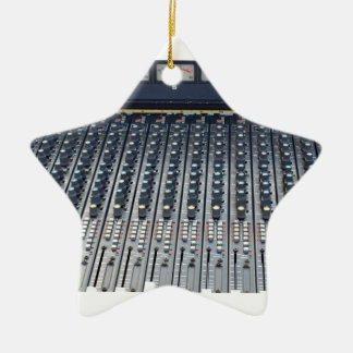 Music soundboard sound board mixer Double-Sided star ceramic christmas ornament