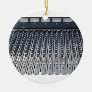 Music soundboard sound board mixer Double-Sided ceramic round christmas ornament