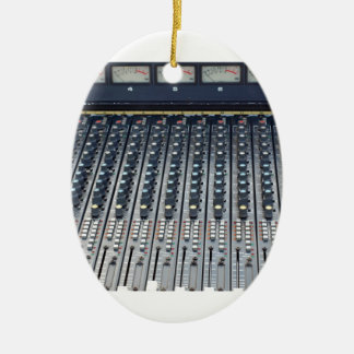Music soundboard sound board mixer Double-Sided oval ceramic christmas ornament