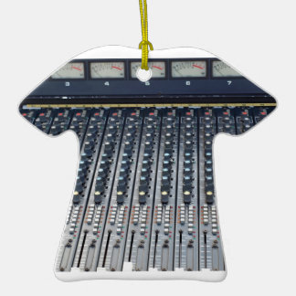 Music soundboard sound board mixer Double-Sided T-Shirt ceramic christmas ornament