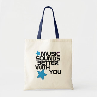Music Sounds Better With You Budget Tote Bag