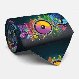 Music Speaker and Beats Glow Neck Tie