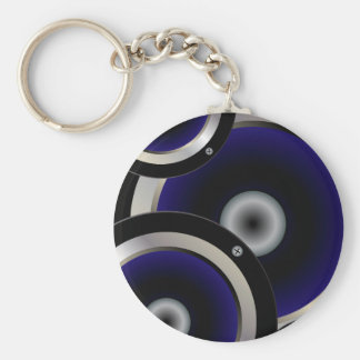 Music Speaker Background Keychain