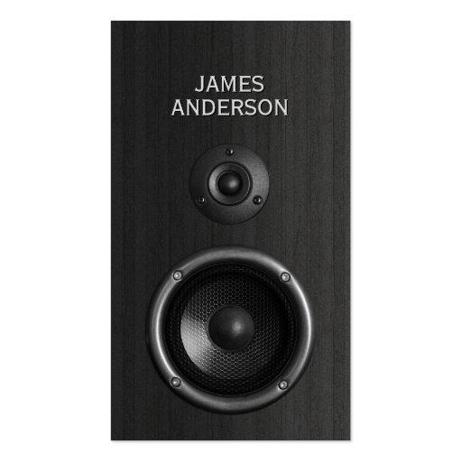 Music Speaker DJ Event Planning business cards