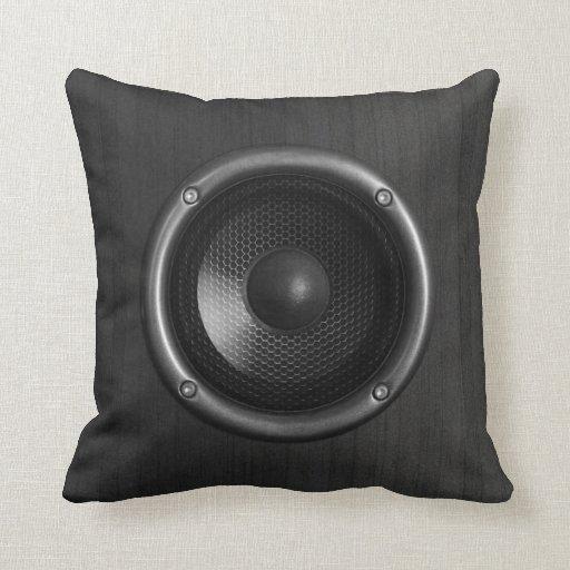 Music speaker funny pillow zazzle for Music speaker pillow