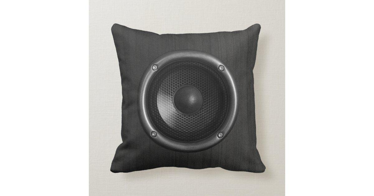 Music speaker funny throw pillow zazzle for Music speaker pillow