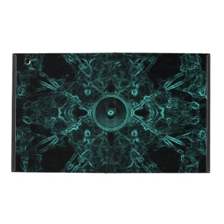 Music speaker on a green glowing background iPad folio cover