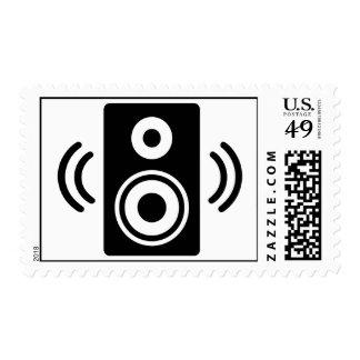 Music speaker stamps
