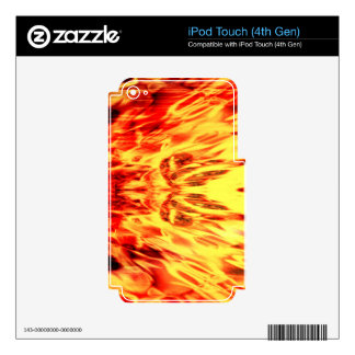 Music speaker with flames decals for iPod touch 4G