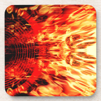 Music speaker with flames drink coaster