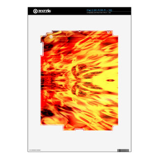 Music speaker with flames skins for iPad 2