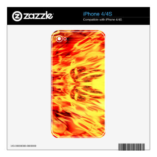 Music speaker with flames skins for iPhone 4S