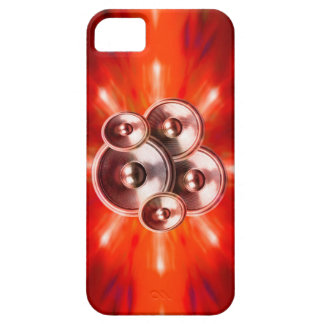 Music speakers and red party lights iPhone 5 cases