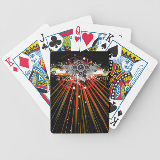 Music Speakers In Flight With Laser Beams Bicycle Playing Cards