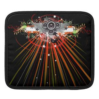 Music Speakers In Flight With Laser Beams iPad Sleeve