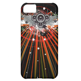 Music Speakers In Flight With Laser Beams iPhone 5C Cover
