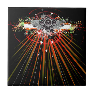 Music Speakers In Flight With Laser Beams Tile
