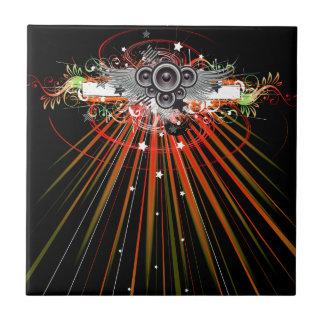 Music Speakers In Flight With Laser Beams Tile