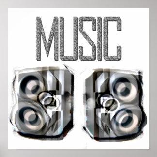 MUSIC SPEAKERS POSTER