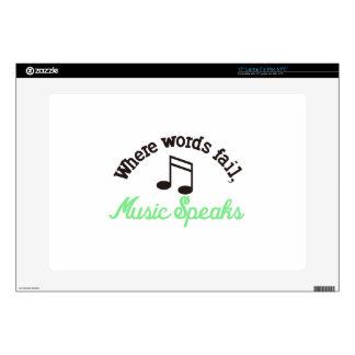 "Music Speaks 15"" Laptop Decal"