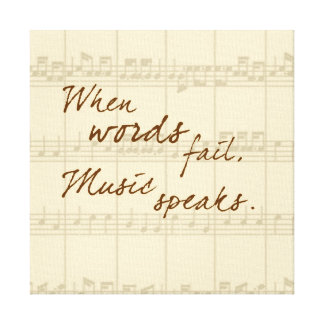 Music Speaks Canvas Print