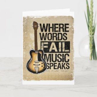 music speaks card