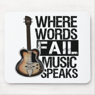 Music Speaks   Choose your background color Mouse Pad