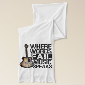 Music Speaks | Choose your background color Scarf